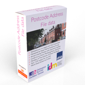 PAF Postcode Address File - Part Record - Partial Data List Table