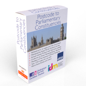 Postcode Parliamentary Constituencies - Table List File Data