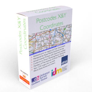 UK Postcode to X&Y Coordinates - Data Table List File